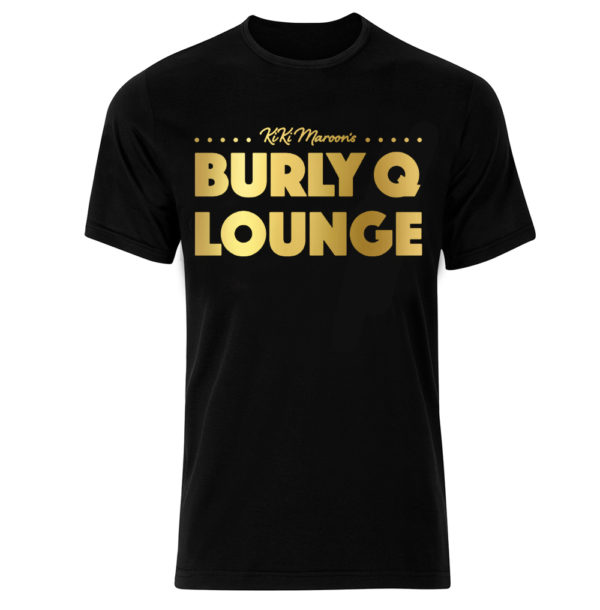 KiKi Maroon Burly Q Lounge Gold Foil Shirt