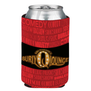 KiKi Maroon Burly Q Lounge Koozie Merch